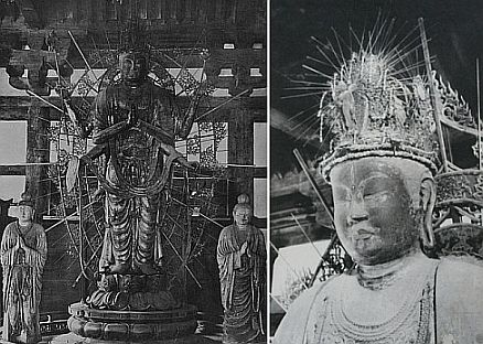 Bild 1: Gesamtansicht und Detailansicht des Kopfes mit Krone (*)