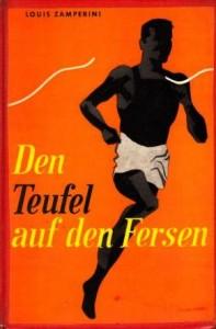 Buchdeckel von: Zamperini, Louis (1957): Den Teufel auf den Fersen. Konstanz: Christliche Verlagsanstalt.